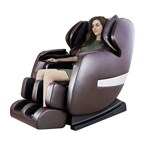 Massage Chair by OOTORI, Deluxe S-Track Recliner with 3D Robot Hand, Zero Gravity Full Body Air Massage, with Stretch Heating Vibrating Function (Pure) (Best Full Body Stretches)