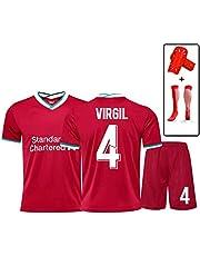 Voetbal shirt Nieuw Seizoen Voetbal Jersey, 4# Virgil Van Dijk Jersey, Ademend Sport Korte Mouwen, Heren En Kinderen, Standaardmaat (Color : A, Size : Child-26)