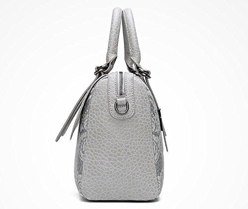 Oscurobolso Shell Messenger Nuevo Bolso Bag Doble Meaeo Gris Las grey Casual De Estampado Light Bolso Señoras Señoras Bolso De Hombro PXtXxFq