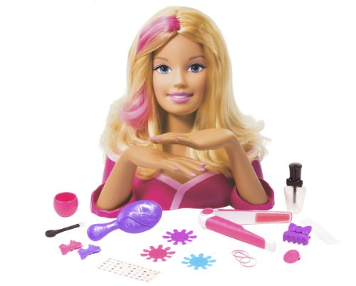 Barbie Deluxe Styling Head Doll Playset Makeup Doll Head