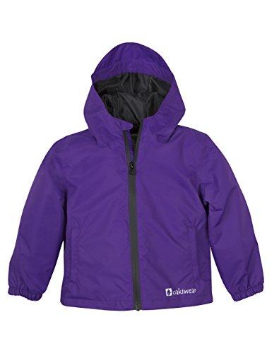OAKI Kids Core Rain Jacket, Galaxy Purple 3T (Jackets Heated Kids For)