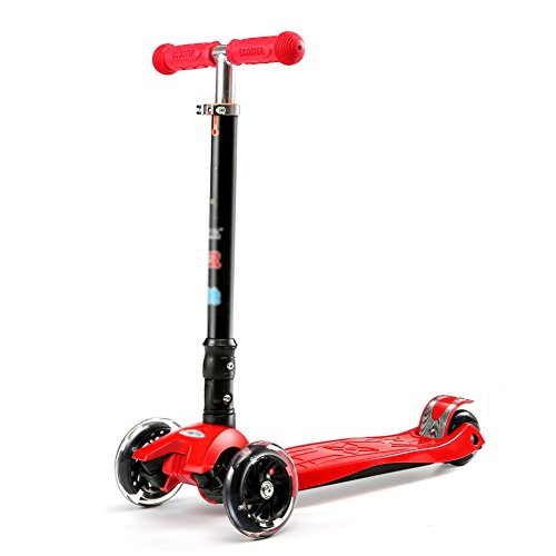 Scooters Child Four Rounds 3-14 Years Old Pulley Truck Height Adjustable (Color : (Delivery Truck Pedal Car)