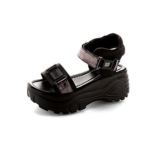 KHSKX-Sandalias De Playa Femenino Zapatos Con Suelas Gruesas Esponja La Nueva Ola De Los Estudiantes Coreanos Pistola De Color Treinta Y Cinco Thirty-four