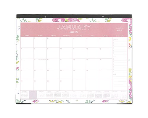 "Day Designer for Blue Sky 2018 Monthly Desk Pad Calendar, 22"" x 17"", Peyton White"