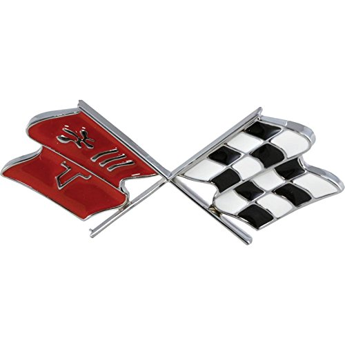 Premier Quality Products Eckler's 25-120259 Corvette Gas Door Emblem, with (Fuel Door Emblem)
