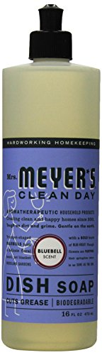 Mrs. Meyer's Liquid Dish Soap, Bluebell, 16 Fluid Ounce - Mrs Meyers Liquid Dish