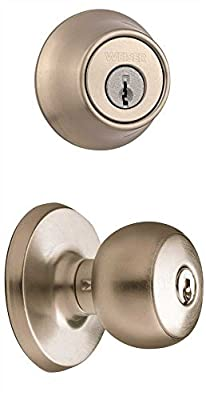 """Weiser GAC531F15GDC9471K2 New Style Elements Beverly Ent/Deadbolt Set Ka Sat Nickel, Plastic, 3.6"""" x 7.4"""" x 5"""""""