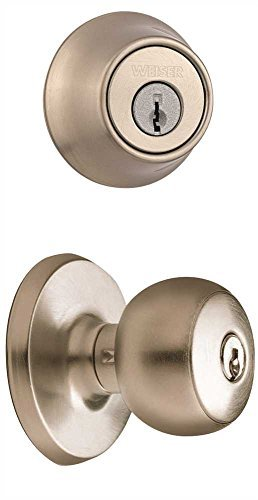 Weiser GAC531F15GDC9471K2 New Style Elements Beverly Ent/Deadbolt Set Ka Sat Nickel, Plastic, 3.6'' x 7.4'' x 5'' by Weiser