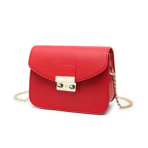 Bags Package Female Color Red Wild Chain Mini Backpack Korean Oblique Handbags Red Summer Package Shoulder RnAw4PqZRd