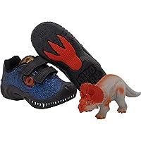 Tenis Dinossauro Dino Park Vissi Infantil + Brinde - Preto Com Azul