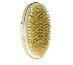 Dry Skin Body Brush - Improves Skin's Health & Beauty - Natural Bristle - Remove Dead Skin & Toxins, Cellulite Treatment, Improves Lymphatic Functions, Exfoliates, Stimulates Blood Circulation