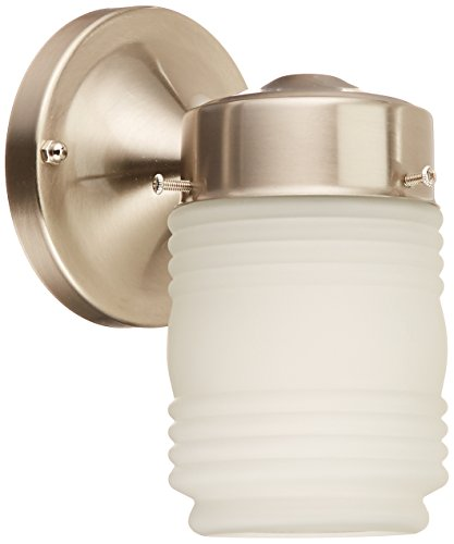 - Nuvo SF76/701 Porch Wall Fixture with Frosted Mason Jar, Brushed Nickel