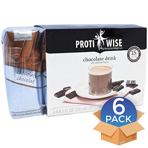 ProtiWise – Chocolate Protein Anytime Drink – Diet Ready to Drink – High Protein – Low Calorie – Low Fat – Low Sugar – Chocolate Weight Loss RTD – (6 Count)