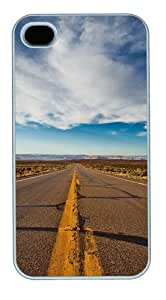 iPhone 4S/4 Case Cover - Highway Landscape New Design iPhone 4S/4 Case and Cover - Polycarbonate - White