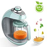 Maxkare Baby Food Maker | Meal Station with Toddlers With Steam, Blend, Chop, Disinfect, Clean Function, 20 Oz Tritan Stirring Cup,Built in Timer,Fashion knob,Steam Cooker and Blender Processor