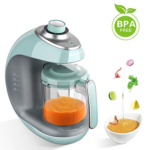 ker | Meal Station with Toddlers With Steam, Blend, Chop, Disinfect, Clean Function, 20 Oz Tritan Stirring Cup,Built in Timer,Fashion knob,Steam Cooker and Blender Processor ()