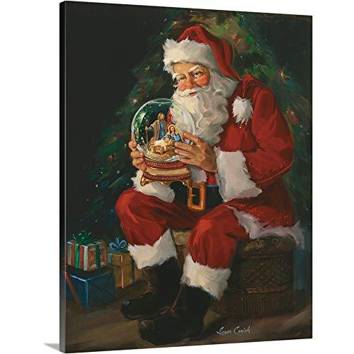 Wall Santa Claus (Susan Comish Premium Thick-Wrap Canvas Wall Art Print entitled Santa Believes 24