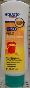Equate Kids Sunscreen Lotion SPF 50, 8 fl oz Compare to Banana Boat Kids