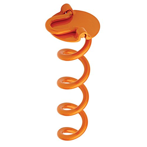 Metal Ground Plane - Liberty Outdoor ANCFR10-ORG-A Folding Ring Spiral Ground Anchor, Orange, 10-Inch