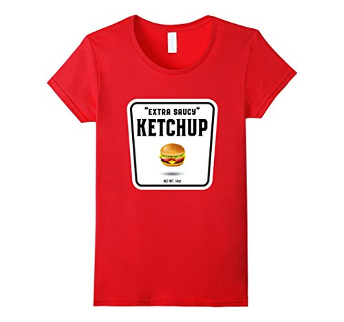 [Womens Easy Halloween Costume Ketchup Mustard Relish Couples tees Medium Red] (Easy Costume Ideas For Couples)