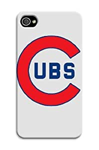 New Coolest Chicago Cubs Tpu Hard Case Cover For Iphone 4/4S Chicago Cubs Mlb