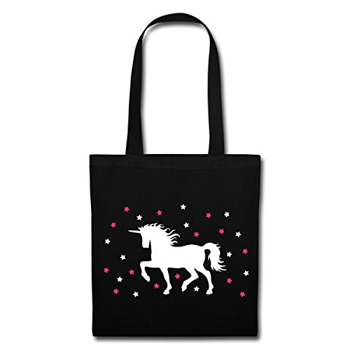 Bag Spreadshirt And Cute Tote Unicorn Black Stars cryz8BcgP