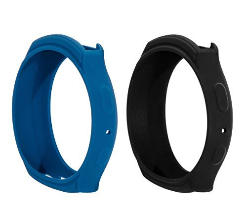 2 Colors Samsung Gear S2 Case Cover, BeneStellar Silicone Band Case Cover for Samsung Gear S2 (S2 SM-R720 / SM-R730 ONLY) Smart Watch