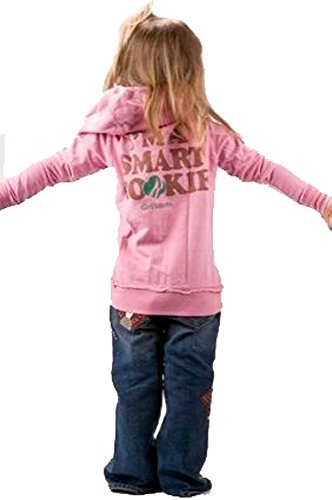 Junk Food Girl Scouts I'm A Smart Cookie Girls Zip Up Hoodie (Girls 4)