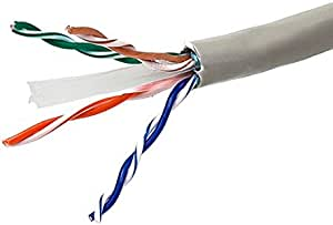 50 Ft Electronic Master Cat6 Utp Cable Network Gray 550 Mhz Ethernet High Performance Data Cat 6e Unshielded Twisted Pair Cat 6 Copper Clad 24 Awg Pvc Jacket Category 6 Enhanced Data Line Computers Accessories Amazon Com