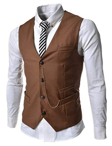 En Slim Manière Vintage Blazer Huixin Sans Affaires Kaki Fit Manches Loisir Décontractée Gilet Costume Tricot Chaîne Uwq4I0q