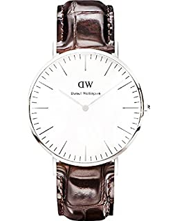 Daniel Wellington Mens 0211DW York Analog Display Quartz Brown Watch