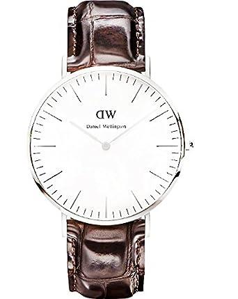 Daniel Wellington Reloj con Correa de Caucho para Hombre 0211DW: Amazon.es: Relojes