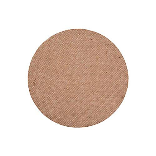 Burlap Placemats, Set of 25 (10 inch Round) - Rustic, Natural Place Settings for Holiday Dinners, Weddings, and Parties ()