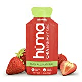 Huma Chia Energy Gel, Strawberries, 12 Gels - Premier Sports Nutrition for Endurance Exercise