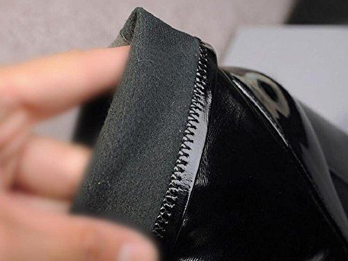 Di donne o ragazze scarpe scrub retrò Martin aumentato stivali a metà polpaccio tacco pelle , 34