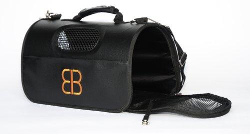 Petego Hog Bag Soft-Sided Pet Carrier, Ventilated, Large, Black, My Pet Supplies