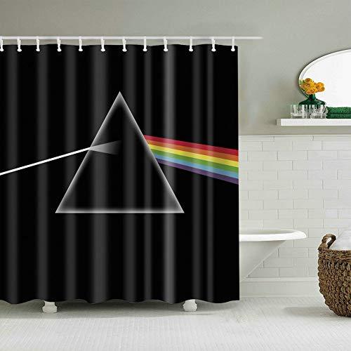 Fangkun Home Decor Shower Curtain Spectrum Light Spectrum Optics Prism Light Beam Refraction - Polyester Fabric Waterproof Mildew Bath Curtains - 12pcs Hooks (YL-192#, 72 x 72 inches)