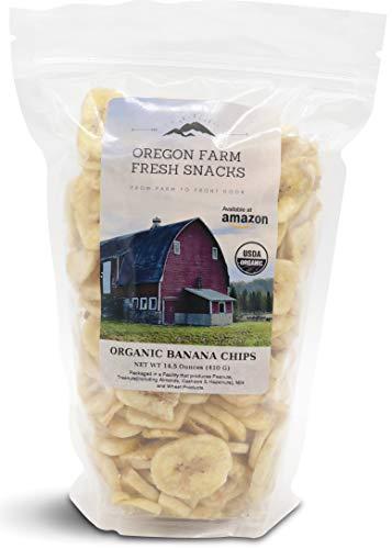 (Oregon Farm Fresh Snacks - USDA Certified Organic Sweetened Banana Chips (14.5 oz))