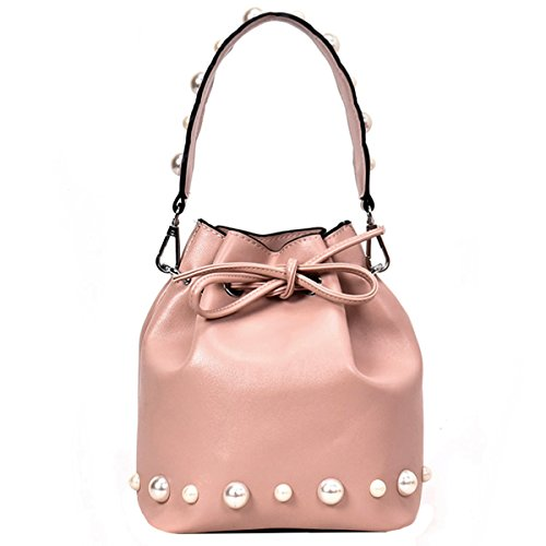 Meliya Ladies Handbags Zip Around Dome Shoulder Bag New Fashion Patent Leather Satchel Shell Shape Portable Messenger Bag Pink
