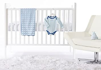 4 pieza recién nacido ropa de cama cuna Set, True Blue, 0-3