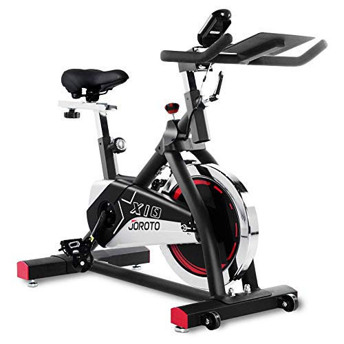 JOROTO Indoor Cycling Bike Stationary – Professional Exercise Bike Stationary Bike for Home Cardio Gym Workout (Renewed)