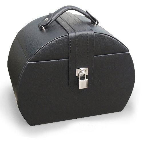 Diana Leather Purse Jewelry Box in Black