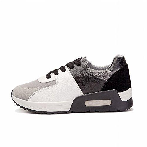 Aire Cojín Zapatos Mujeres Estudiantes Lucha Color Ocio Zapatos Deportivos Mujeres Zapatillas , negro , EUR35
