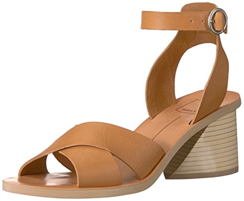 Dolce Vita Women's Roman Heeled Sandal, Caramel Leather, 9 M US