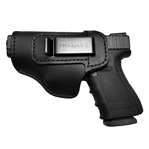 LANZON Leather IWB Holster | Fits Glock 17 19 22 23 32 33 36