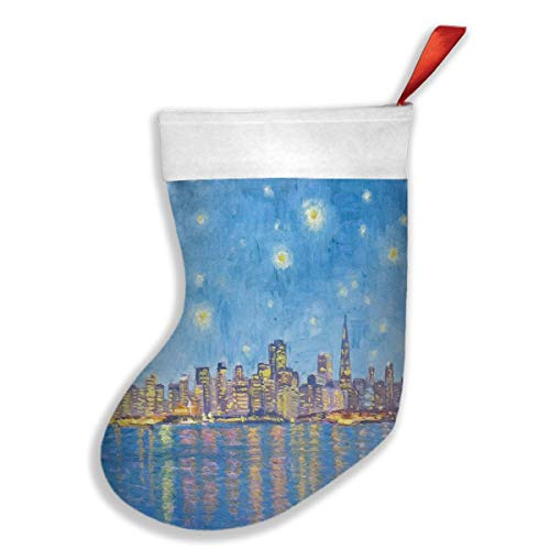 Randolph Wordsworth Christmas Stockings San Francisco Starry Night Fabulous Xmas Gift Party Accessory Decor Tall 16.5