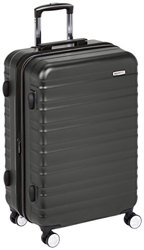 AmazonBasics Premium Hardside Spinner Luggage with Built-In TSA Lock - 24-Inch, Black