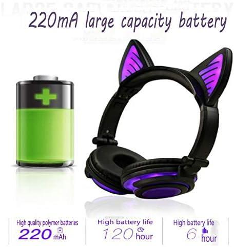 XHN Draadloze Bluetooth Hoofdtelefoon Over Ear, Draadloze Opvouwbare Soft Memory-Protein Oordopjes, Draadloze en Wired Headset voor PC, een geschenk voor familie en vrienden