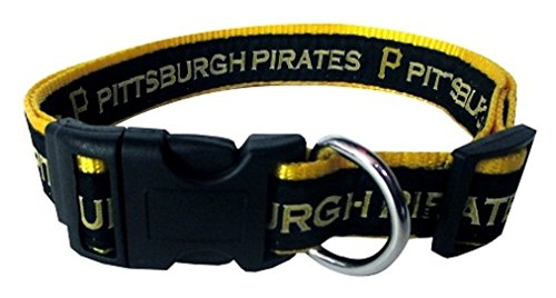 Pets First Pittsburgh Pirates Nylon Pet Collar - MLB Official - - Pittsburgh In Shop To Where