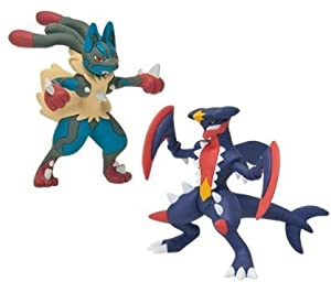 Pokemon x y mega shinka evolution vs figure mega lucario - Mega carchacrok ...